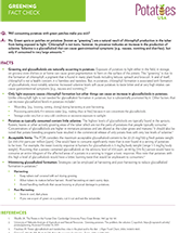 Potato Q&A Greening and Glycoalcoloids